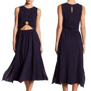 J.O.A. Cut out fit & flare midi dress NWT large